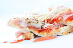 Slice of pizza-swollow DOF Royalty Free Stock Images