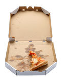 Slice of pizza in a takeaway box Stock Photos