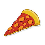 Slice of Pizza Stock Photography