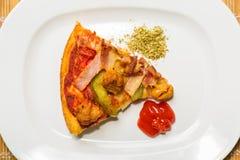 Slice of pizza Stock Photos