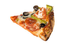 Slice of pizza with the works Royalty Free Stock Images