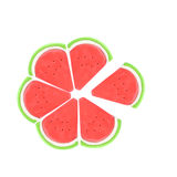Slice of plasticine watermelon Royalty Free Stock Photography