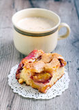 Slice of plum cake Royalty Free Stock Image
