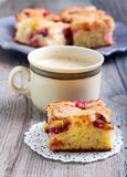 Slice of plum cake Stock Images