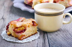 Slice of plum cake Royalty Free Stock Photo
