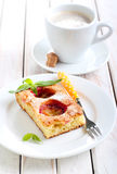 Slice of plum cake Royalty Free Stock Photography