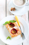Slice of plum cake Royalty Free Stock Photos