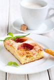 Slice of plum cake Royalty Free Stock Images