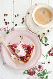 Slice of plum pie Royalty Free Stock Photos