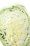 Slice pointed cabbage Stock Images