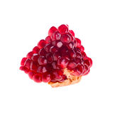 Slice of pomegranate. On a white stock image