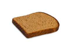 Slice of a potato rye bread, isolated Royalty Free Stock Photography