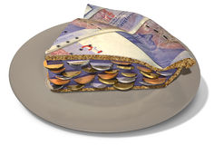 Slice Of Pound Money Pie Royalty Free Stock Photography