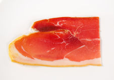 Slice of prosciutto crudo Royalty Free Stock Photography