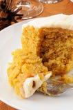 Slice of pumpkin cake Stock Photos