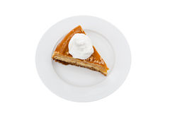 Slice of pumpkin cheesecake Royalty Free Stock Photo