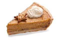 Slice of Pumpkin pie Royalty Free Stock Images