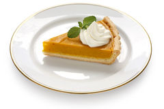 A slice of pumpkin pie Stock Image