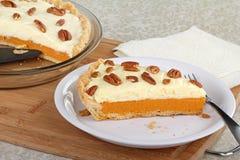 Slice of Pumpkin Pie Stock Image