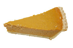 Slice of Pumpkin Pie Stock Photo