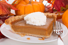 Slice of Pumpkin Pie Royalty Free Stock Image