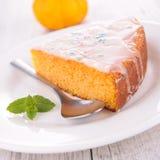 Slice of pumpkin pie Stock Photo