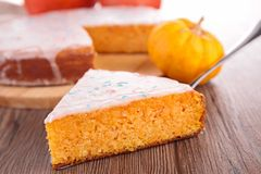 Slice of pumpkin pie Royalty Free Stock Photos