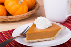 Slice of Pumpkin Pie Stock Photography