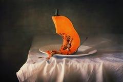 Slice pumpkin still life Royalty Free Stock Photos