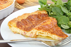 Slice of quiche Royalty Free Stock Photography