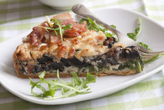 Slice of quiche Stock Image