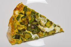 Slice of quiche Stock Photo