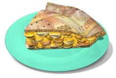 Slice Of Rand Money Pie Stock Photography