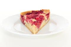 Slice of raspberry cake Stock Photos