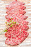 Slice raw meat royalty free stock photography