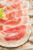 Slice raw meat. Raw  meat for BBQ,japanese food Stock Images