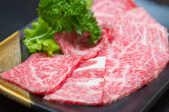 Slice raw meat stock image