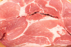 Slice of raw pork meat Stock Images
