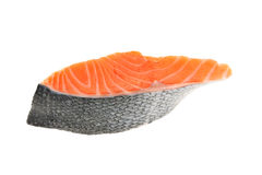 Slice Of Raw Salmon Royalty Free Stock Images