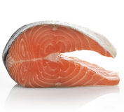 Slice Of A Raw Salmon Royalty Free Stock Photos