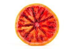 Slice of red blood orange Royalty Free Stock Photos