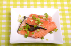 Slice of red fish salmon Stock Photography