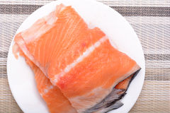 Slice of red fish salmon Royalty Free Stock Images