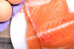 Slice of red fish salmon Stock Photos
