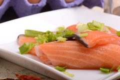 Slice of red fish salmon Stock Image