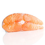 Slice of red fish salmon Stock Photos