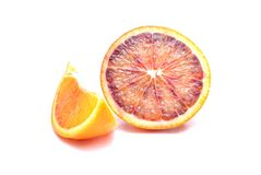 Slice of red oranges Royalty Free Stock Photography