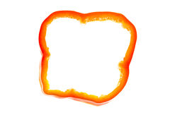Slice of red pepper Royalty Free Stock Photography