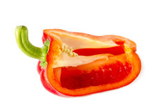 Slice red pepper Stock Photography