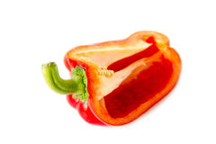 Slice red pepper. On white background Royalty Free Stock Images
